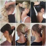 Une pose d'extensions correctement réalisée doit permettre de s'attacher les cheveux facilement sans que les extensions ne soient visibles.